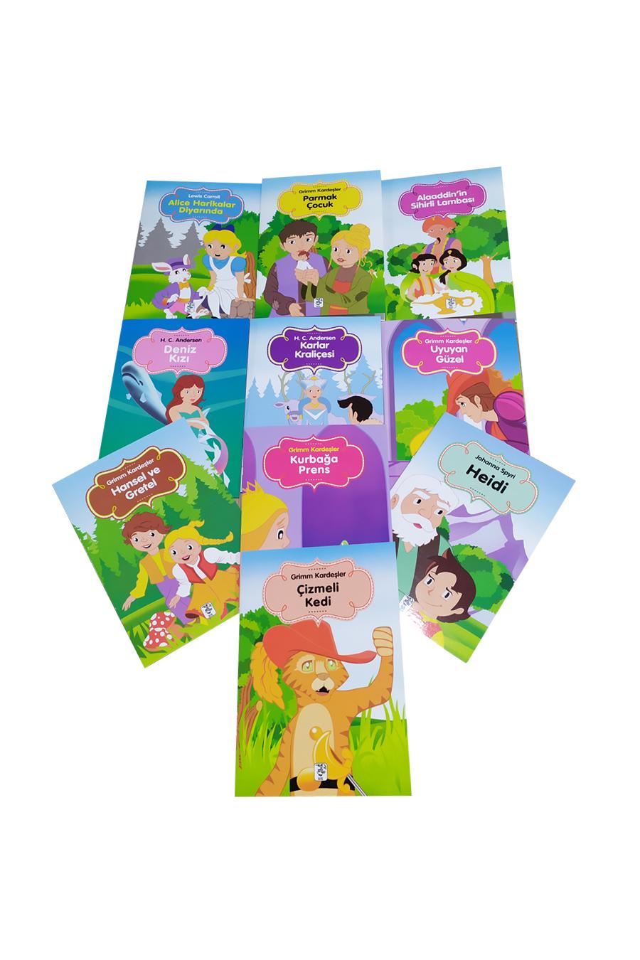 Renkli Dünya Çocuk Masalları Seti 2 (10 Kitap)