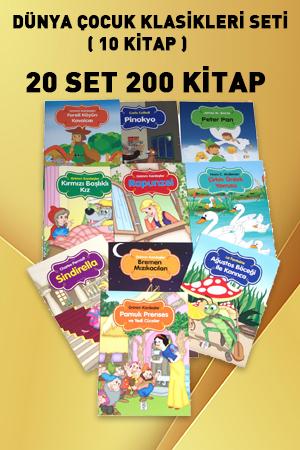 Renkli Dünya Çocuk kKlasikleri Seti (10 Kitap) - 20 SET 200 KİTAP